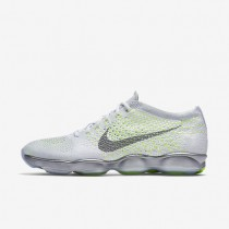 Nike Flyknit Zoom Agility White Pack White/Volt/Wolf Grey/Cool Grey Womens Training Shoes
