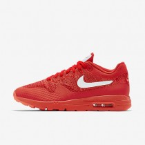 Nike Air Max 1 Ultra Flyknit Bright Crimson/University Red/Bright Mango/White Womens Shoes