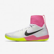 Nike Court Flare White/Volt/Pink Blast/Black Womens Tennis Shoes