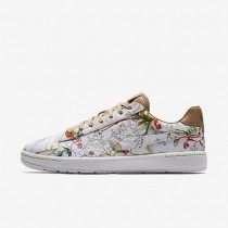 Nike Liberty Tennis Classic Ultra Leather White/Tan/Multi Color Womens Shoes