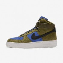 Nike Air Force 1 Hi Premium Suede Olive/Midnight Turquoise/Summit White/Black Womens Shoes