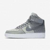 Nike Air Force 1 Hi Premium Suede Matte Silver/Pure Platinum/White/Cool Grey Womens Shoes