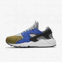 Nike Air Huarache Premium Metallic Silver/Black/Game Royal/Olive Flak Womens Shoes