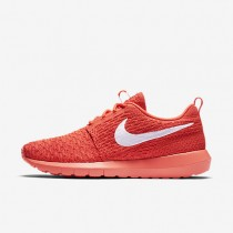 Nike Roshe Flyknit NM Bright Crimson/University Red/White Womens Shoes