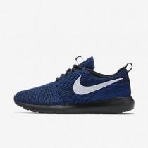 Nike Roshe Flyknit NM Dark Obsidian/Racer Blue/White Womens Shoes