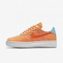 Nike Air Force 1 07 Textile Premium Peach Cream/Hyper Turquoise/Volt/Total Orange Womens Shoes