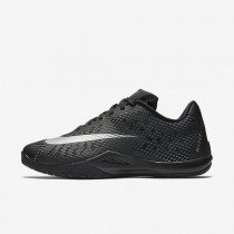 Nike HyperLive (Men's Sizing) Black/Dark Grey/Cool Grey/Metallic Silver unisex Basketball Shoes