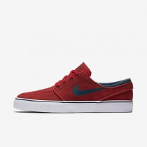 Nike SB Zoom Stefan Janoski University Red/White/Gum Light Brown/Midnight Turquoise Mens Skateboarding Shoes