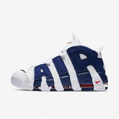 Nike Air More Uptempo '96 Chaussure pour Homme Blanc/Orange équipe/Bleu royal profond Référence : 921948-101