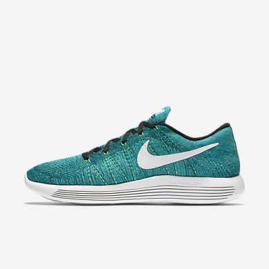 12193b5afc2 Nike LunarEpic Low Flyknit Rio Teal Clear Jade Voltage Green White Mens  Running