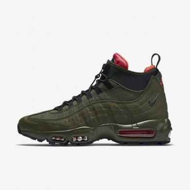 Nike Air Max 95 Sneakerboot Dark Loden/Cargo Khaki/Bright Crimson/Black Mens boot Shoes