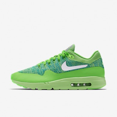 Nike Air Max 1 Ultra Flyknit Voltage Green/Lucid Green/Rio Teal/White Mens Shoes