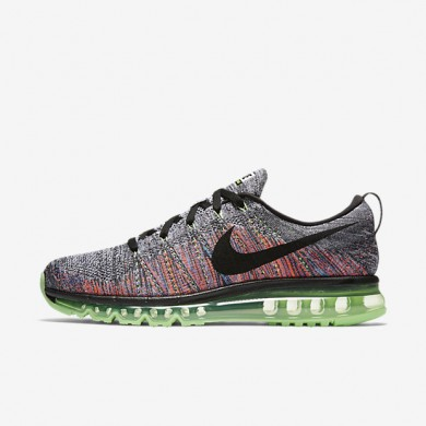 Nike Flyknit Air Max White/Ghost Green/Bright Mango/Black Mens Running Shoes