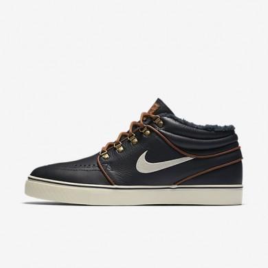 Nike Skateboarding Zoom Stefan Janoski Mid Dark Obsidian/Light British Tan/Birch Mens Shoes