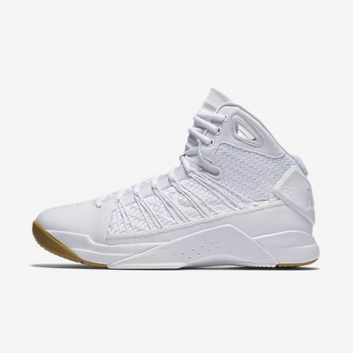Nike Hyperdunk Lux White/Gum Light Brown/White Mens Basketball Shoes