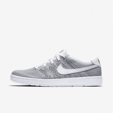 Nike Court Tennis Classic Ultra Flyknit Wolf Grey/White/White Mens Shoes