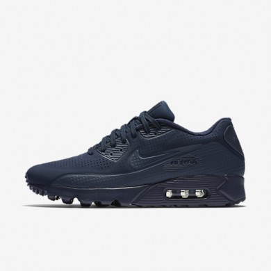 Nike Air Max 90 Ultra Moire Midnight Navy/White/Midnight Navy Mens Shoes