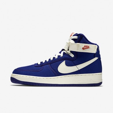 Nike Air Force 1 High Concord/Team Orange/Sail Mens Shoes