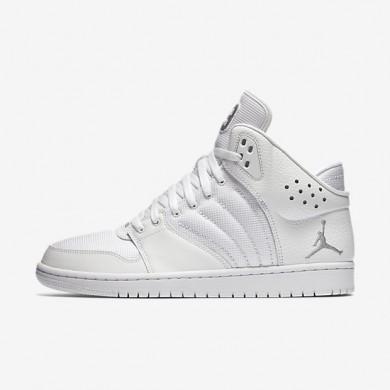 Jordan 1 Flight 4 White/Metallic Silver Mens Shoes