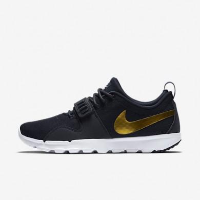 Nike SB Trainerendor Obsidian/White/Metallic Gold Mens Shoes