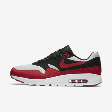 Nike Air Max 1 Ultra Essential Pure Platinum/Black/White/Gym Red Mens Shoes