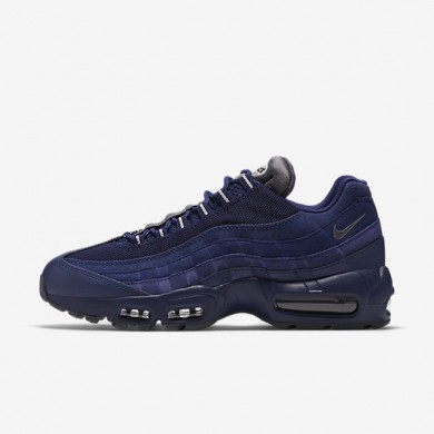 Nike Air Max 95 Essential Loyal Blue/Light Bone/Dark Grey Mens Shoes