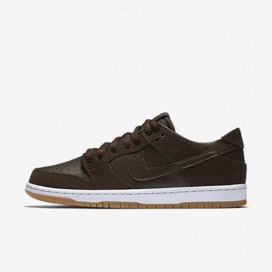 Nike SB Dunk Low Pro Ishod Wair Baroque Brown/White/Gum Medium Brown/Baroque Brown Mens Skateboarding Shoes