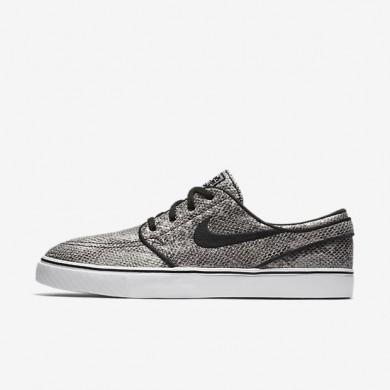 Nike SB Zoom Stefan Janoski Premium 'Cobra' Black/Green Glow/Black/White Mens Skateboarding Shoes