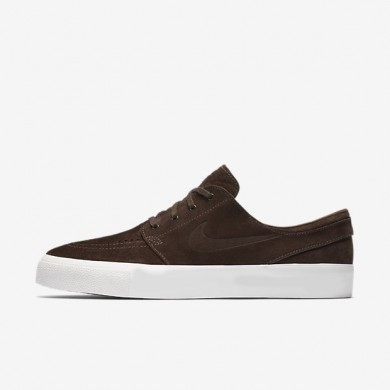 Nike SB Zoom Stefan Janoski Premium High Tape Baroque Brown/Ivory/Baroque Brown Mens Skateboarding Shoes