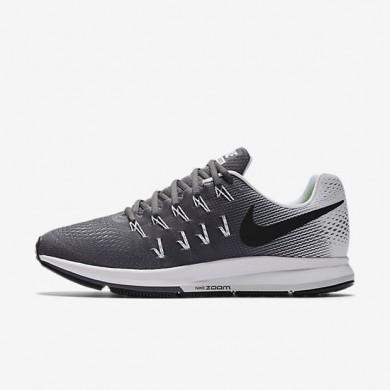 Nike Air Zoom Pegasus 33 Dark Grey/White/Black Mens Running Shoes