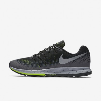 Nike Air Zoom Pegasus 33 Shield Black/Dark Grey/Stealth/Metallic Silver Mens Running Shoes