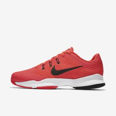 Nike Court Air Zoom Ultra Bright Crimson/Black/White Mens Tennis Shoes
