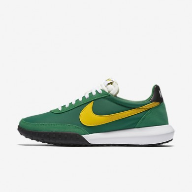 Nike Roshe Waffle Racer NM Pine Green/Black/White/Tour Yellow Mens Shoes
