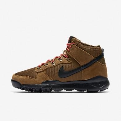 Nike SB Dunk High Military Brown/Dark Khaki/Black Mens boot Shoes