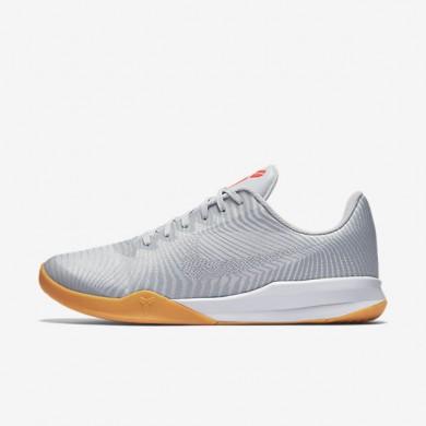 Nike Kobe mentality 2 White/Pure Platinum/Bright Crimson/Wolf Grey Mens Basketball Shoes