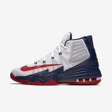Nike Air Max Audacity 2016 White/Midnight Navy/Pure Platinum/University Red Mens Basketball Shoes