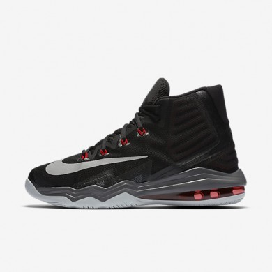 Nike Air Max Audacity 2016 Black/University Red/Dark Grey/Metallic Silver Mens Basketball Shoes
