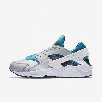 Nike Air Huarache Wolf Grey/Aquatone/Purple Dynasty/White Mens Shoes