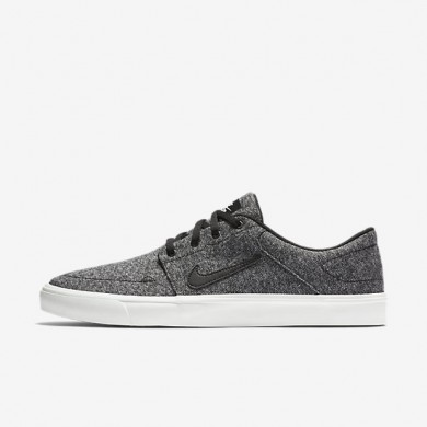 Nike SB Portmore Canvas Premium Ivory/Black Mens Skateboarding Shoes