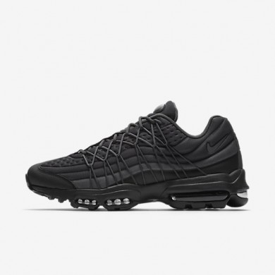 Nike Air Max 95 Ultra SE Black/Black/Anthracite/Dark Grey Mens Shoes