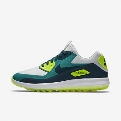 Nike Air Zoom 90 IT Pure Platinum/Rio Teal/Volt/Midnight Turquoise Mens Golf Shoes