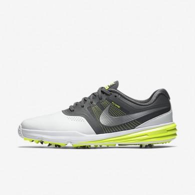 Nike Lunar Command White/Dark Grey/Volt/White Mens Golf Shoes
