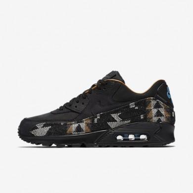 Nike Air Max 90 Pendleton QS Black/Stratus Blue/Ale Brown/Black Mens Shoes
