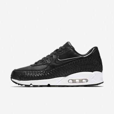 Nike Air Max 90 Woven Black/White/Black Mens Shoes