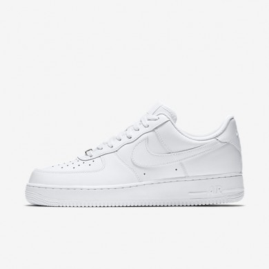 Nike Air Force 1 White/White Mens Shoes