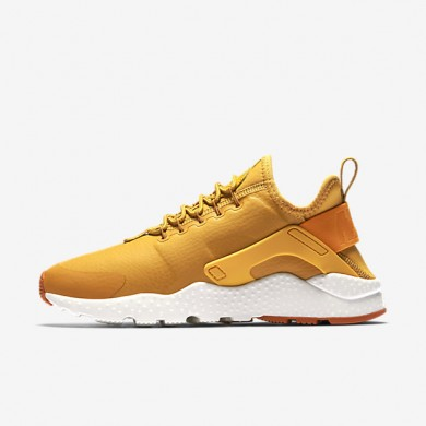 Nike Air Huarache Ultra Premium Gold Leaf/Sail/Sunset Womens Shoes