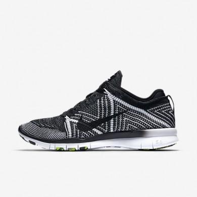 Nike Free TR 5 Flyknit Black/White/Volt/Black Womens Training Shoes