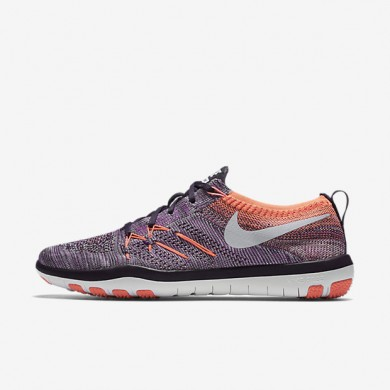 Nike Free TR Focus Flyknit Hyper Violet/Bright Mango/Grand Purple/Bleached Lilac Womens Training Shoes