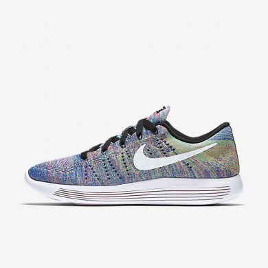 Nike LunarEpic Low Flyknit Black/Racer Blue/Clear Jade/White Womens Running Shoes