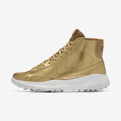 Nike Blazer Metallic Gold/Summit White/Metallic Gold Womens Golf Shoes